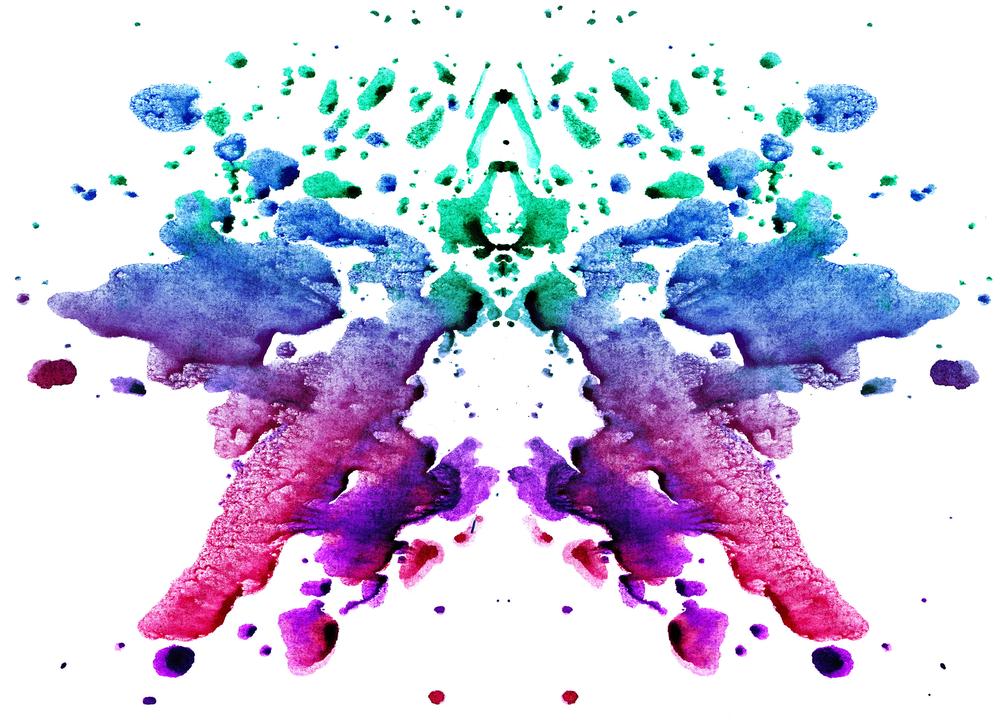 カラフルで少し不気味な色彩イメージ