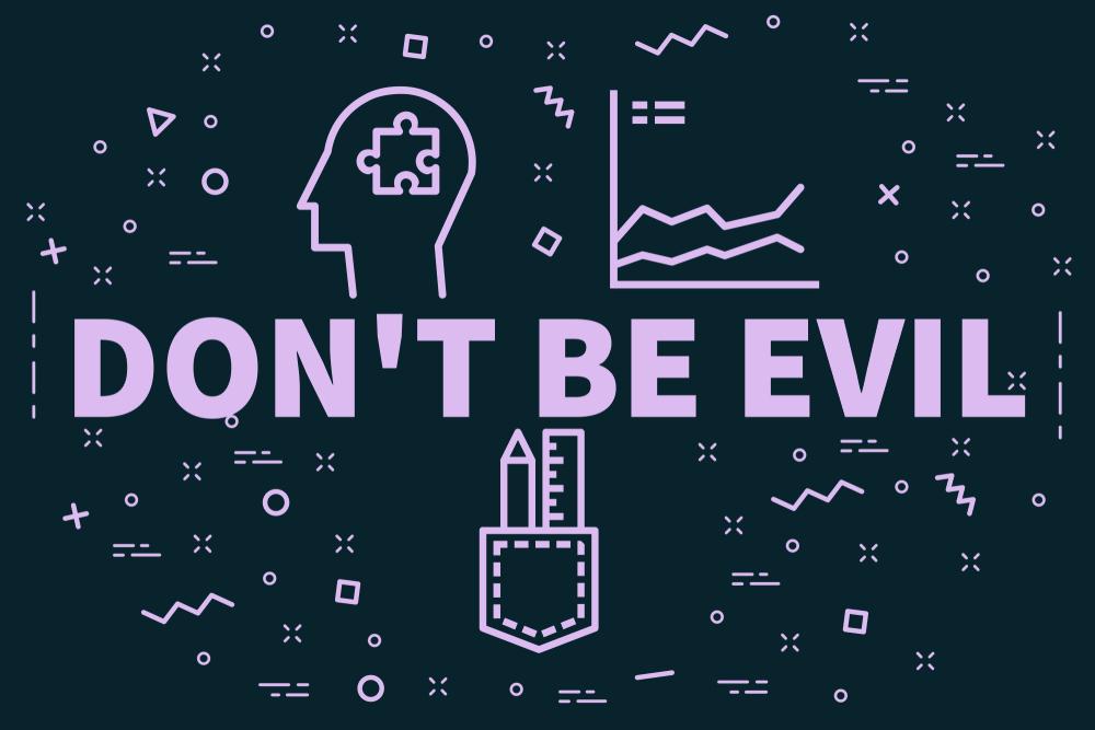 Don't Be Evilと書かれたイメージ画