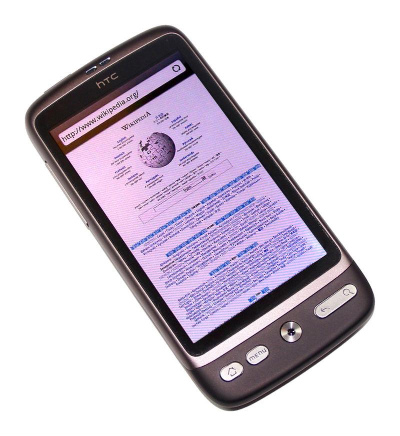 HTCから2010年に発表された「HTC Desire」の写真