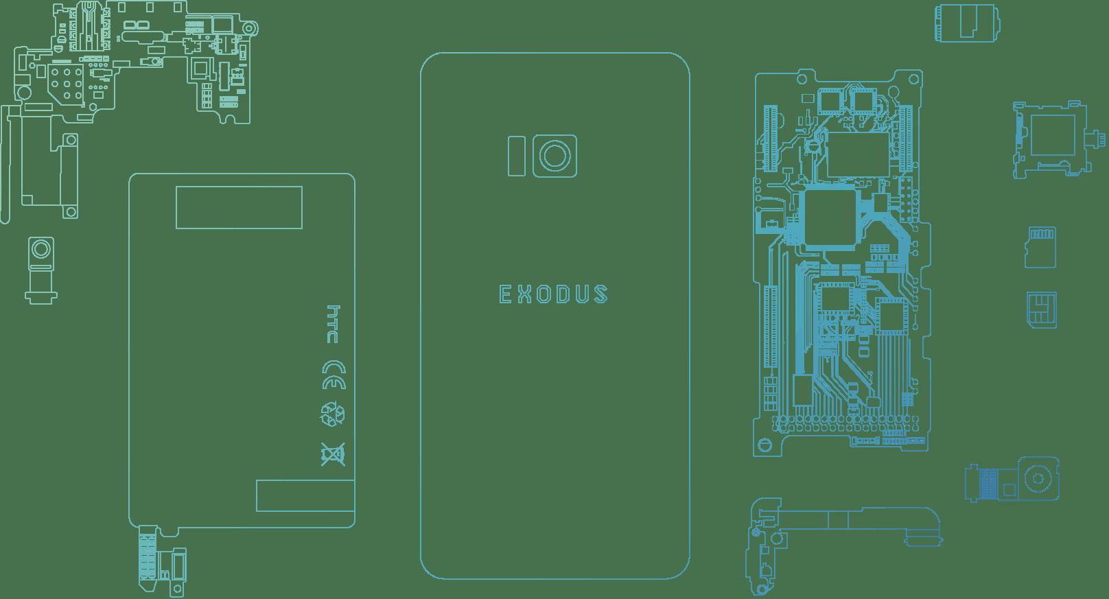 HTCが発表した「Exodus」の画像