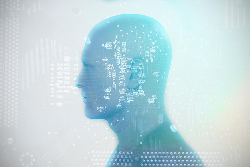 男性の外見をした人工知能のイメージ画像