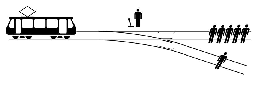 トロッコ問題のイメージ図