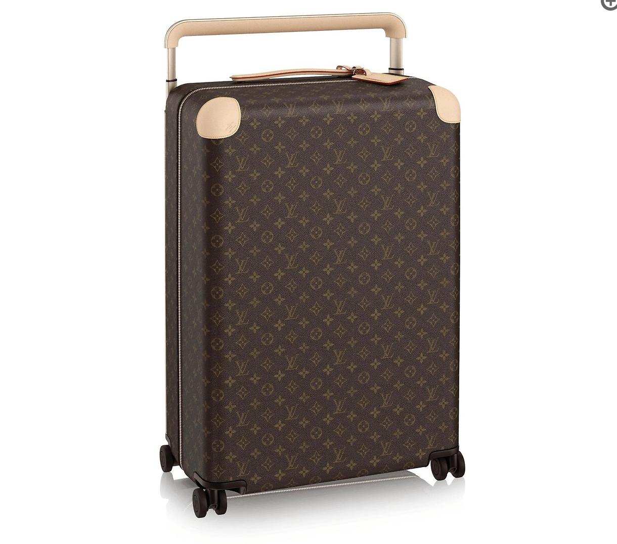 ルイ・ヴィトンのモノグラムがデザインされたスーツケース