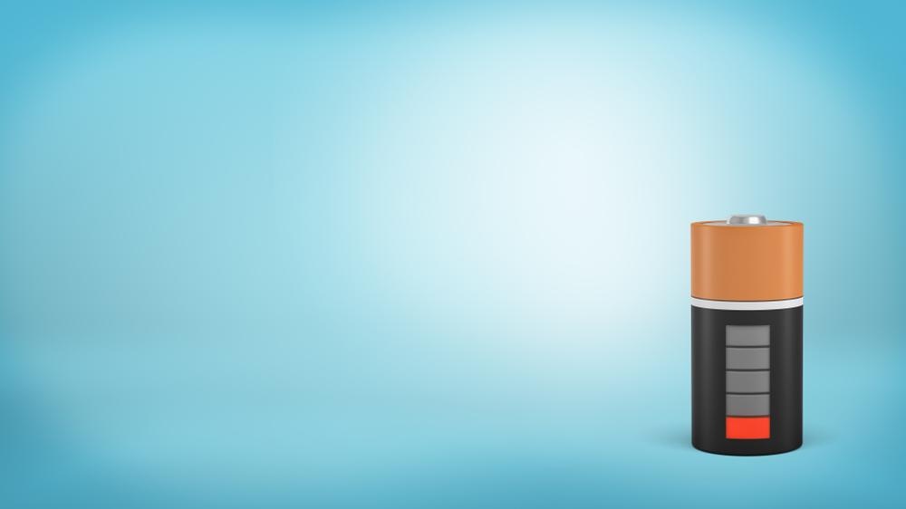 低電力のバッテリーの写真