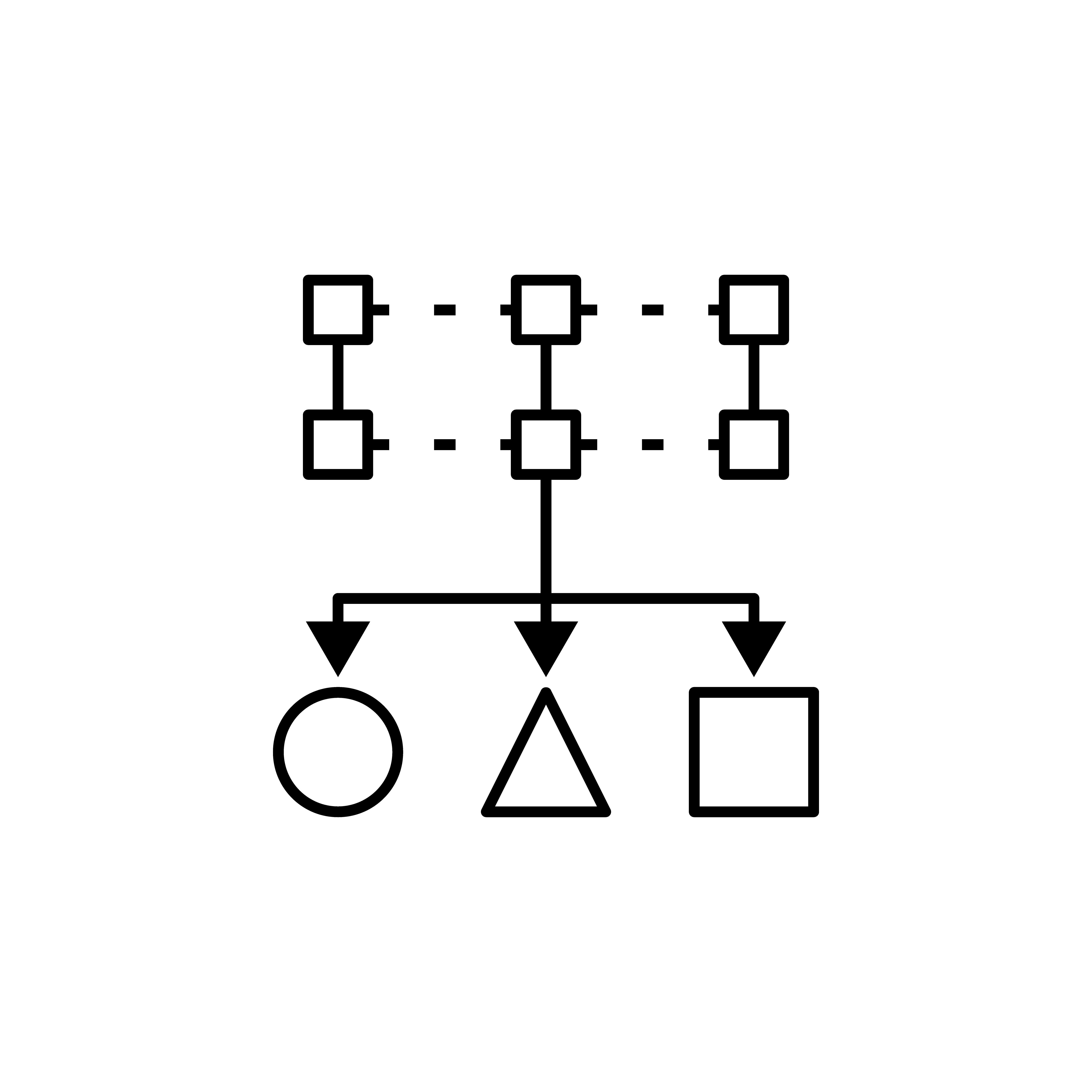 情報を分類分けするイメージ図