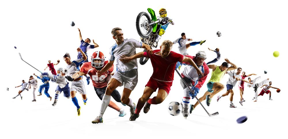 色々なスポーツが表現されたイメージ