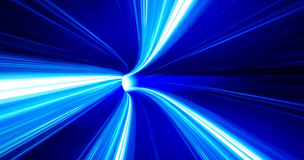 青いネットワークイメージ